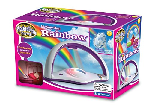 Brainstorm Toys My Very Own Rainbow Light Projector For Ages 4+ With 2 Illumination Modes Perfect For Parties and Sleepovers and a Charming Night Light to Inspire Sweet Dreams by Brainstorm Toys