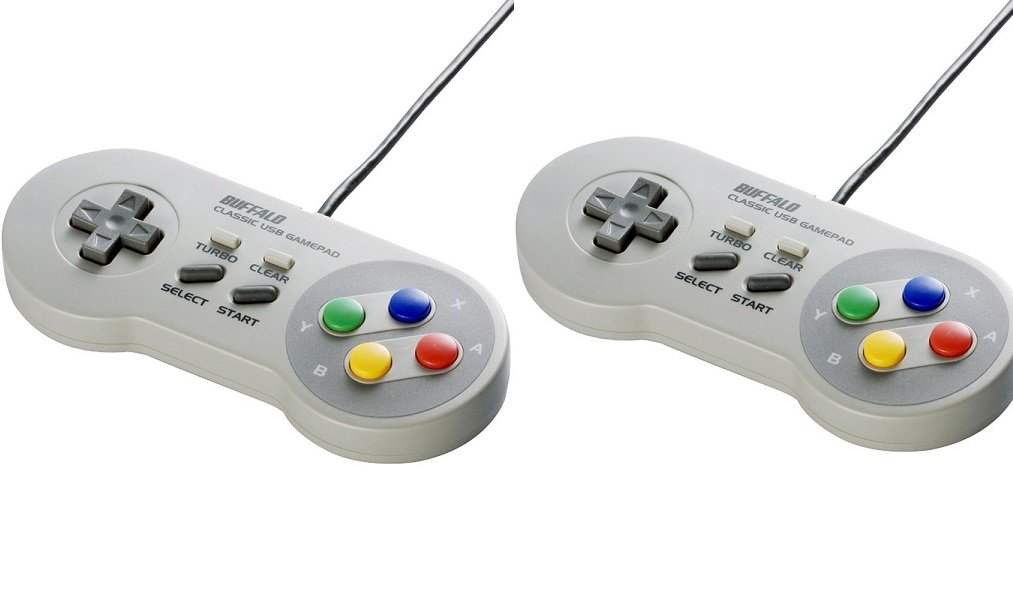 [Set of 2] Buffalo Classic USB Gamepad for PC/Raspberry Retro-Gaming 8  Buttons BSGP815GY from Japan