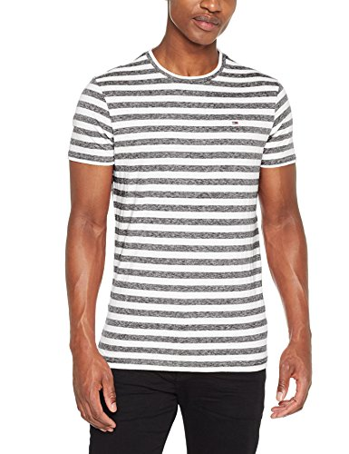 Essential Negro Tommy jeans tommy Stripe 078 Black Para Tee Camiseta Tjm Hombre 8pBwdEWqp