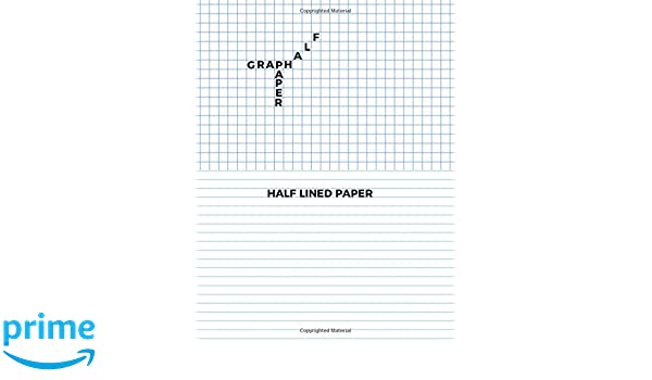 Half Graph Paper Half Lined Paper Graph And Lined Paper On Same