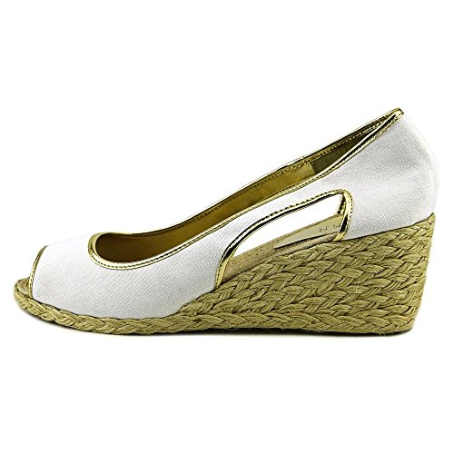 Ralph US 7 Lauren Wedge Charlotte Women White Sandal Lauren vFfxzfqn