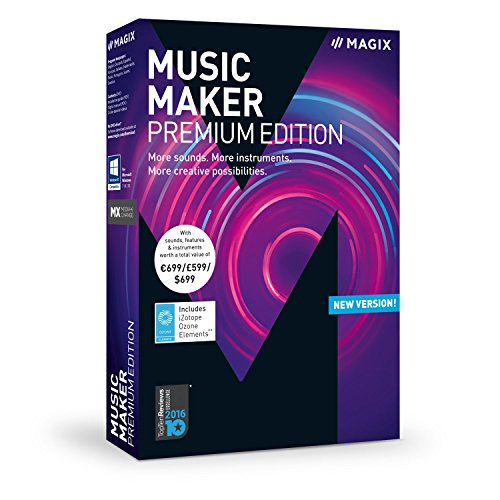 MAGIX Music Maker - 2018 Premium Edition - The audio software with more sounds, instruments and creative options