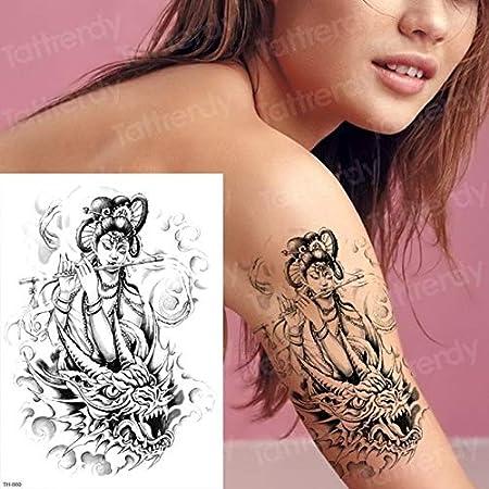 Handaxian 3pcsSketch Tattoo Design Mujer Tatuaje Halloween Zombie ...