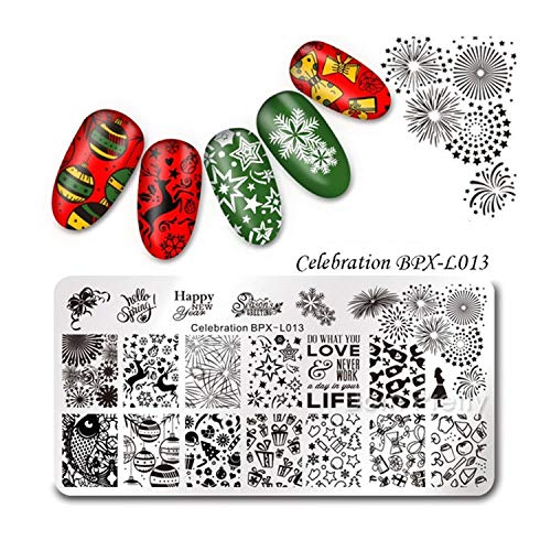 Festival Nail Stamping Plate Thanksgiving Celebration Nail Art Image,38219 for $<!--$12.25-->