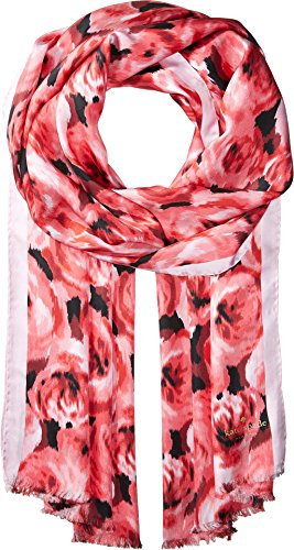 Kate Spade New York Women's Tapestry Rose Silk Oblong Scarf Petunia One Size by Kate Spade New York