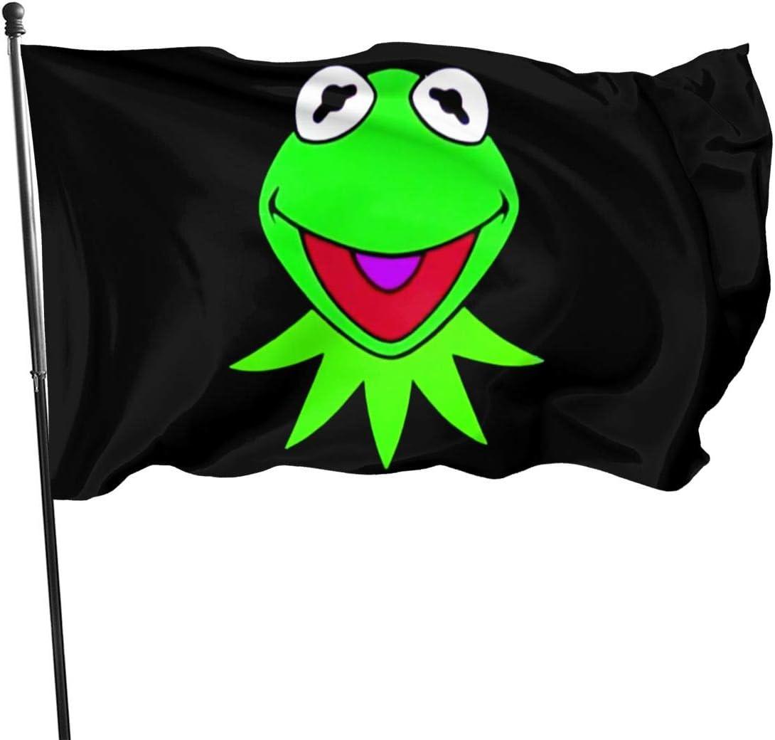 NaohBent Kermit The Frog Fashion Flag Yard Garden Design Banner Decorative Home One Size