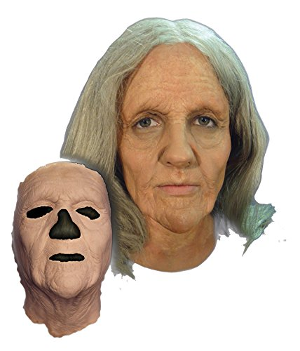 (UHC Women's Prosthetic Old Woman Face Theme Party Latex Halloween Costume)