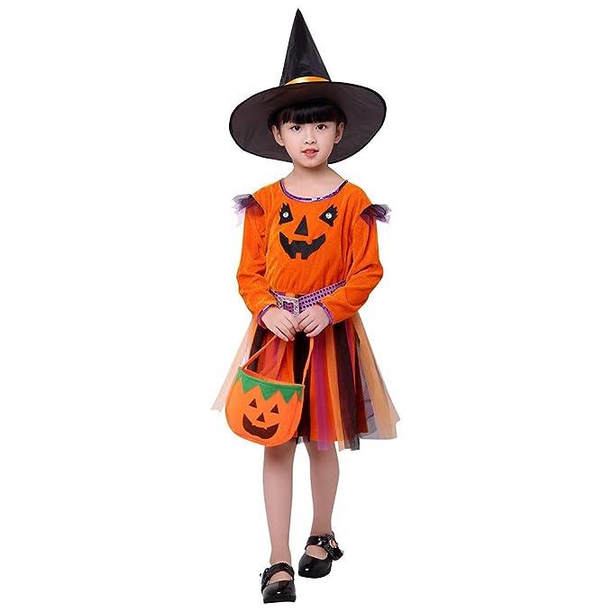 Vectry Vestido Niña Disfraz Niña Bebé Niña Halloween Calabaza Tul ...