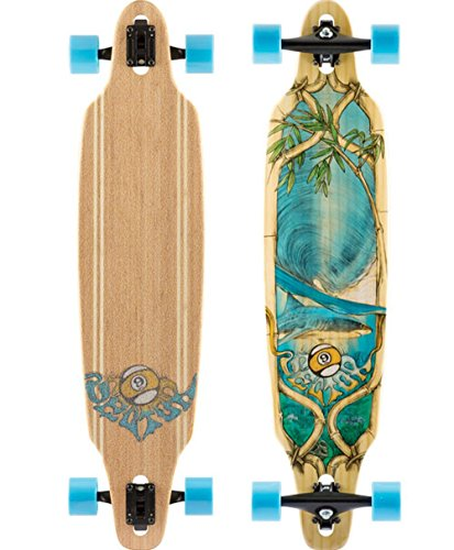 Charger 9 Sector (Sector 9 Bamboo Lookout Drop-Thru Complete Longboard Skateboard - 9.62x41.12/31 wheelbase)