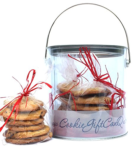 COOKIE GIFT CAN QUEEN CHOCOLATE CHIP WITH WALNUTS COOKIE GIFT CAN