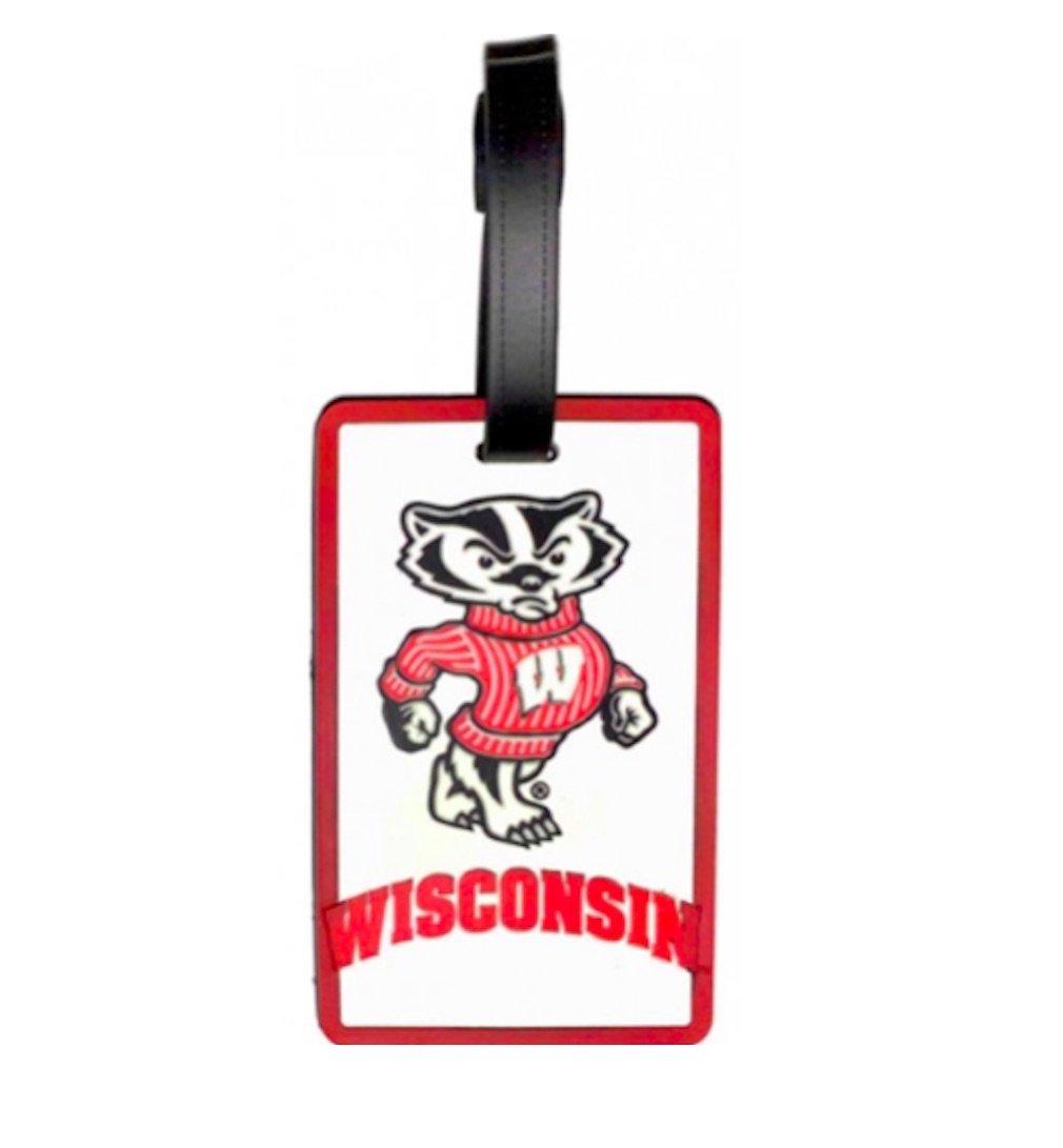 Wisconsin Badgersマスコット荷物タグ – ホワイト、   B01971H2QW