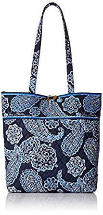 Vera Bradley Tote Shoulder Bag, Blue Bandana, One Size