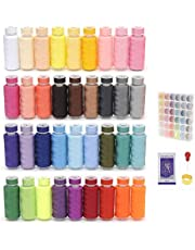 EAST-F 72Pcs Sewing Kit with Box, 36 Colors Bobbins Threads and 36 Colors Sewing Threads for Hand & Machine Sewing - Free Needles, Needle threader and Thimble