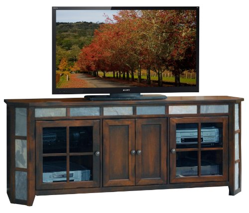 Legends Fire Creek 72 in. Angled TV Console - Danish Cherry