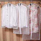 Liheyin Top Quality Easy Organize Travel Cloth Bag, 6 Packs of Transparent Garment Covers Zipper Clothes Bags (set)