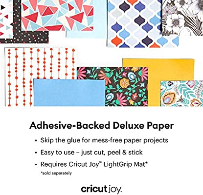 Anna Griffen Rose Cricut Joy Adhesive-Backed Deluxe Paper DIY Craft Paper for Scrapbooking and other Art Projects 10 ct