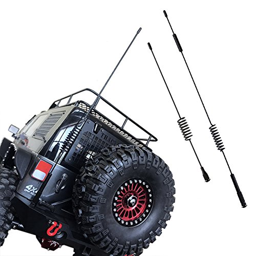 INJORA 11.4 & 6.3 Metal Antenna,1 10 Scale RC Crawler Accessories,Decoration for Traxxas TRX-4 TRX4 Ford Bronco D90 D110 Tamiya CC01 Axial SCX10 90046(11.4 inch & 7.75 inch)