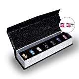 7 Pairs Swarovski Elements Crystal Stud Earrings Set 18K White Gold Plated Earring Valentine's Day Gift with Decoration Box