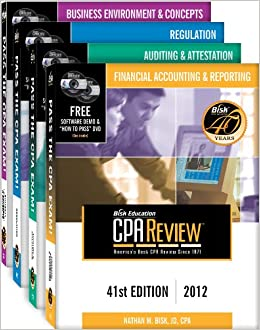 Book Bisk CPA Review: 4-Volume Set - 41st Edition 2012 (Comprehensive CPA Exam Review 4-Volume Set)