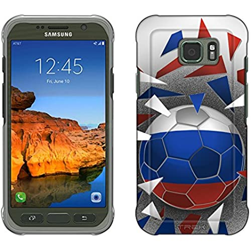 Samsung Galaxy S7 Active Case, Snap On Cover by Trek Soccer Ball Russia Slim Case Sales