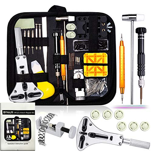Watch Repair Kit, Watch Case Opener Spring Bar Tools, Watch Battery Replacement Tool Kit, Watch Band Link Pin Tool Set with Carrying Case and Instruction Manual (Best Place To Sell Tools)