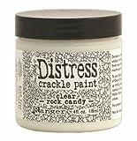 #7: Ranger TDC31888 Tim Holtz Distress Crackle Paint 4 oz Jar, Clear Rock Candy