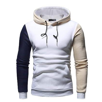 9e963772c Amazon.com: NEARTIME Men Hooded Sweatshirt, Men's Autumn/Winter Long Sleeve  Patchwork Coat Casual Outwear Sports Tops: Kitchen & Dining