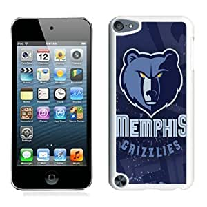 New Custom Design Cover Case For iPod Touch 5th Generation Memphis Grizzlies 5 White Phone Case