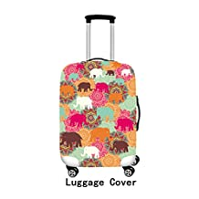 ONE 2 Spandex Colorful-designed Suitcase Cover Suitable For Almost All Sizes Luggage With Buckle
