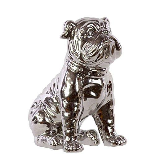 silver bulldog statue - 9