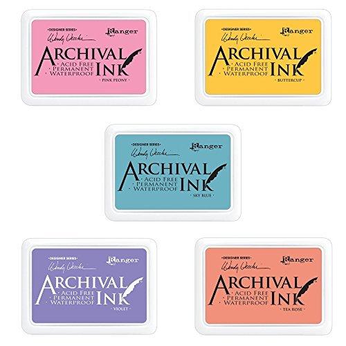 ranger-wendy-vecchi-archival-ink-pads-buttercup-tea-rose-pink-peony-violet-sky-blue