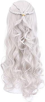 Daenerys Targaryen peluca Khaleesi cosplay madre de dragones ...
