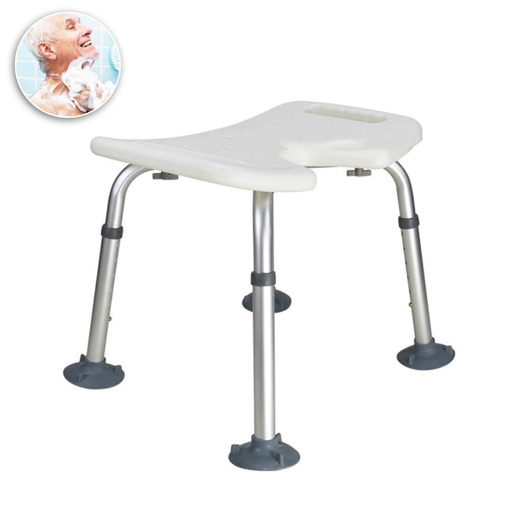 WYQWANLJX U-Shaped Bath/Shower Seat, Elderly Bathroom Stool/Pregnant Bathing Stool, Thick Non-Slip Bath Chair/7-Speed Height Adjustable,Gift for Parents by WYQWANLJX