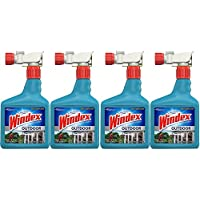 Windex Outdoor Glass and Patio Concentrated Cleaner, 32 Ounce, 4-Pack