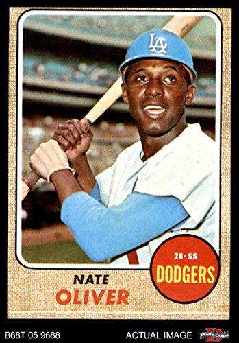 Oliver Baseball (1968 Topps # 124 Nate Oliver Los Angeles Dodgers (Baseball Card) Dean's Cards 4 - VG/EX Dodgers)