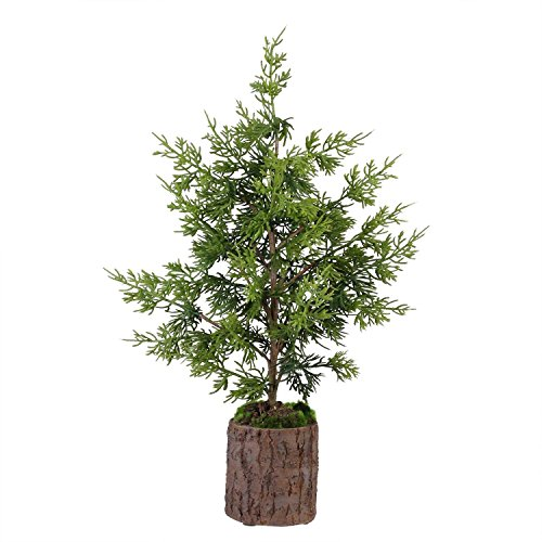 Allstate 20.75'' Artificial Green Cedar Topiary Christmas Table Top Decoration by Allstate