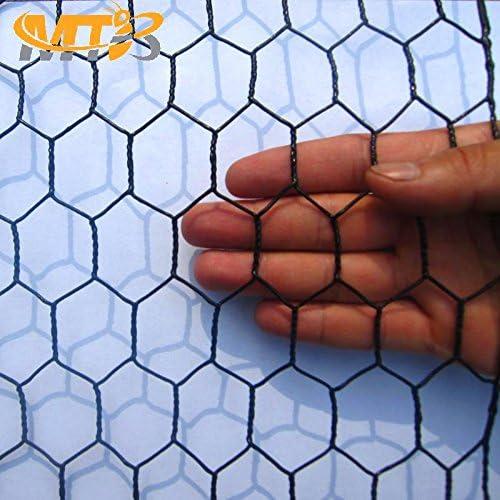 MTB Black PVC Hexagonal Poultry Netting, Chicken Wire 36 x150 -1 20GA 12 18 24 36 48 Width by 25 50 150 Length