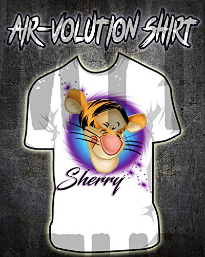Personalized Airbrush Tigger Shirt