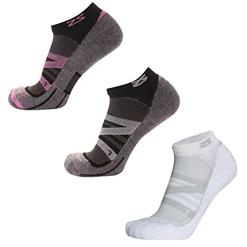 Zensah Wool Running Socks, Cloud/Pink/White, Small