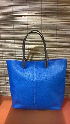 Francesco Lionetti - bolso de mano de cuero - Made in Italy (gris coco) azul