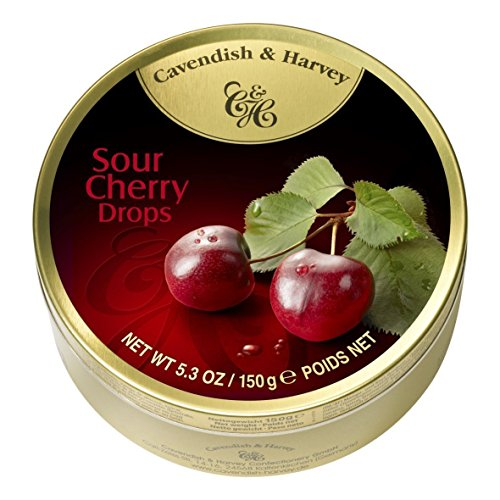 Cherry Hard Candy - Cavendish And Harvey Candy (3 Pack) Fruit Hard Candy Tin 5.3 Ounces Imported German Candy (Sour Cherry Drops)
