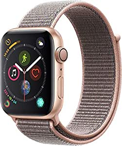 Apple Watch Series 4-44mm Gold Aluminum Case with Pink Sand Sport Loop, GPS + Cellular, watchOS 5