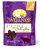 Wellness Treats for Cats, Pure Delights Chicken and Lamb Recipe, 3-Ounce Pouch, My Pet Supplies