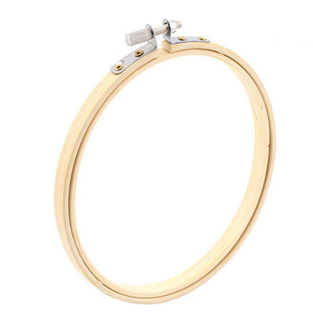 Vooye rotonda Bamboo Cross Stitch Hoops Machine Handheld telaio per ricamo Needlework anello cucito attrezzi, As Picture Show, 13 cm