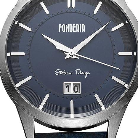 Mit Quarz Watch Armbanduhr Leder Smart Fonderia Analog Herren ZXuPki