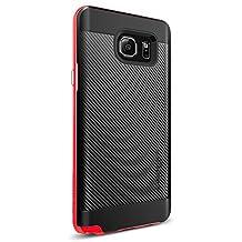 Spigen Galaxy Note 5 Case Slim Fit Carbon Fiber + Reinforced bumper protection - Dante Red