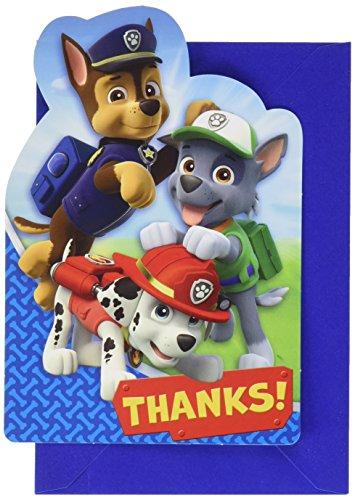 Amscan Paw Patrol Thank You Postcard, Party Favor, 48 Ct -