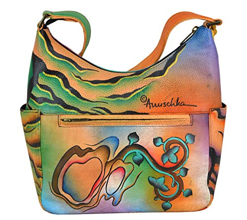 Hobo with Collage Classic Women's Anuschka Hand Side Painted Pockets wX6q4IF