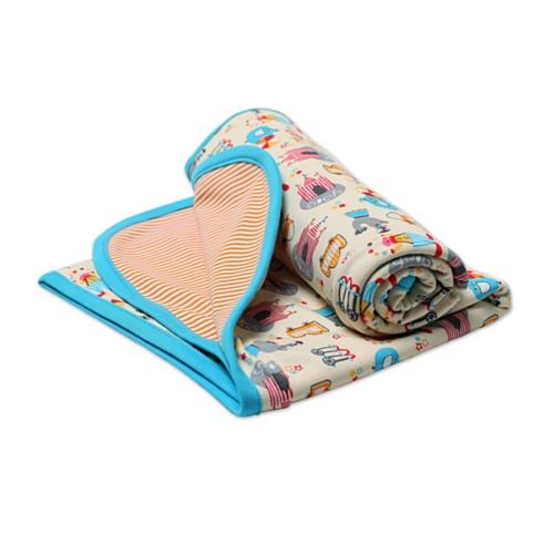 Zutano Unisex-baby Infant Le Cirque Blanket, Cream, One - Zutano Blankets Cotton