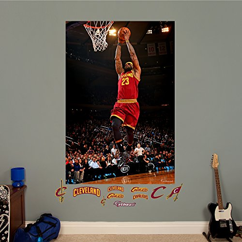 NBA Cleveland Cavaliers LeBron James Two Handed Dunk Mural Fathead Real Big Decals